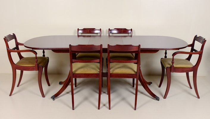 Tremendous Vintage Dining Table And 6 Chairs Set From Greaves Thomas Download Free Architecture Designs Intelgarnamadebymaigaardcom