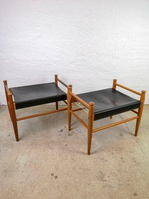 Tabourets Sudan Vintage Par Lundgren Gillis Pour Ikea 1950s Set De 2