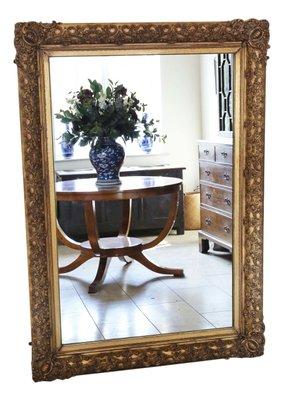 Specchio da parete grande, XIX secolo in vendita su Pamono