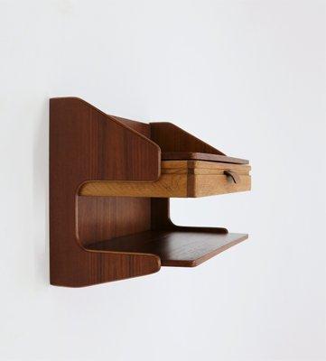 Tavoli da parete in teak e quercia, Scandinavia, anni \'60, set di 2