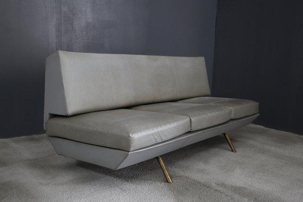 Terrific Brass Leather Sofa By Marco Zanuso 1950S Dailytribune Chair Design For Home Dailytribuneorg