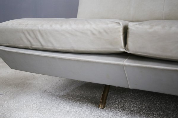 Pleasing Brass Leather Sofa By Marco Zanuso 1950S Dailytribune Chair Design For Home Dailytribuneorg