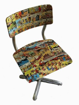 Excellent Mid Century Childrens Comics Chairs 1950S Set Of 2 Download Free Architecture Designs Scobabritishbridgeorg