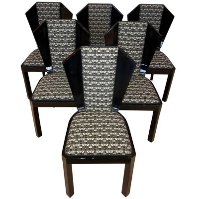 Art Deco Dining Room Chairs 1930s Set, 6 Dining Room Chairs
