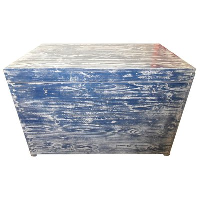 Antique Blue White Painted Chest For, How To Paint Furniture Antique Blue