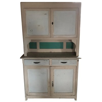 Large Art Deco Painted Kitchen Cupboard 1930s