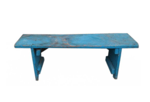 Outstanding Antique Blue Painted Wooden Bench Unemploymentrelief Wooden Chair Designs For Living Room Unemploymentrelieforg