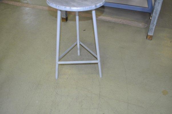 Awe Inspiring Mid Century Industrial Hungarian Round Metal Stool 1960S Ibusinesslaw Wood Chair Design Ideas Ibusinesslaworg