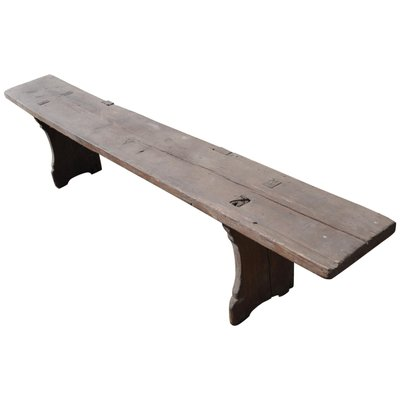 Long Antique Wooden Bench 1890s