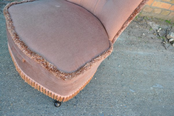 Prime Vintage Pink Velour Boudoir Chair 1950S Frankydiablos Diy Chair Ideas Frankydiabloscom