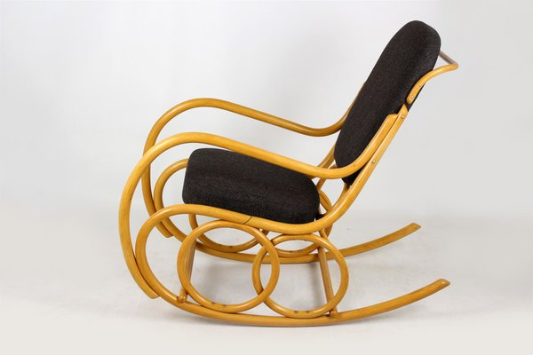 Wondrous Mid Century Beech Bentwood Rocking Chair From Ton 1960S Machost Co Dining Chair Design Ideas Machostcouk