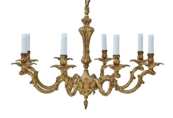 Pleasing Large Vintage Gold Plated Brass Chandeliers Set Of 2 Spiritservingveterans Wood Chair Design Ideas Spiritservingveteransorg