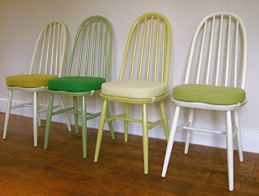 Set avec Table & 4 Chaises Vintage de Ercol, 1960s