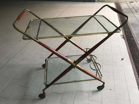 Vintage Bar Cart >> Vintage Bar Cart By Cesare Lacca 1950s For Sale At Pamono