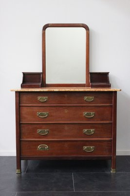 Antique Dresser With Mirror By Alberto Issel 1910s For Sale At Pamono