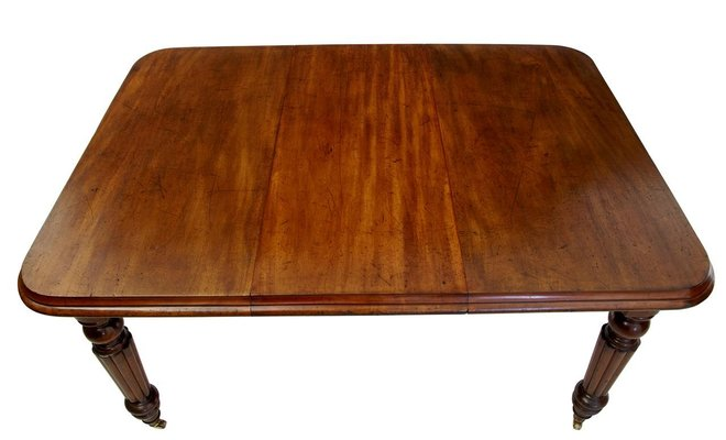 Antique Victorian Mahogany Extending Dining Table For Sale At Pamono