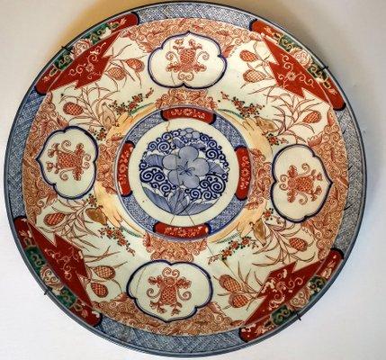 info pour 0eeb1 a7447 Grande Assiette Imari en Porcelaine, 18ème Siècle