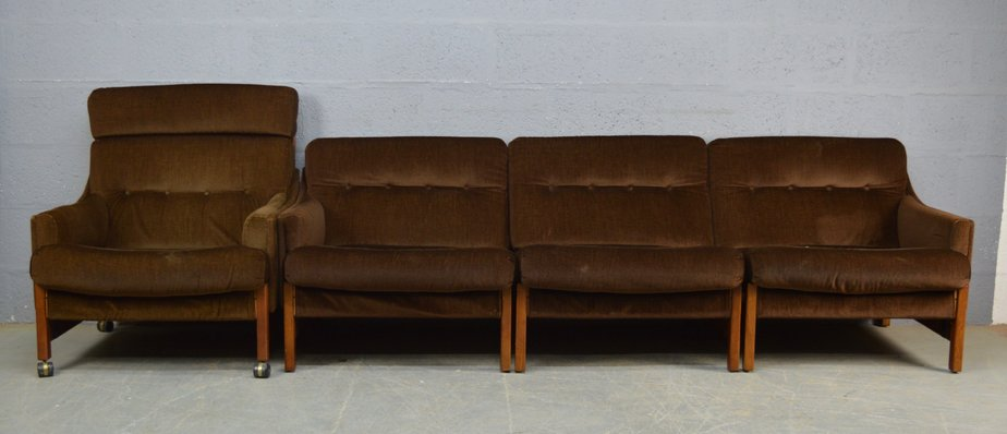 Mid Century Sofa And Chair Set From