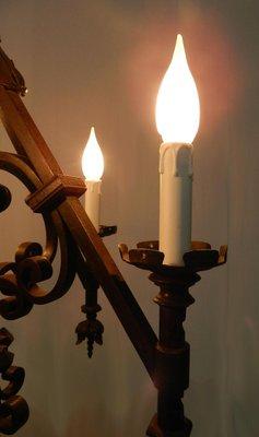 Pie Estilo Hierro 20 ForjadoAños Lámpara De Gótico 8XOPkwn0