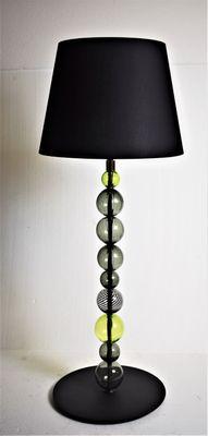 Lampada da tavolo sferica verde di Eros Raffael per Gallery30141