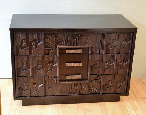 Brutalistische Kommode Von Lane Furniture 1960er Bei Pamono Kaufen