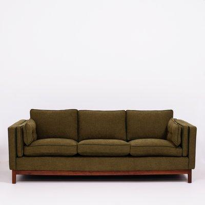 Mid Century Olive Green 3 Seater Sofa