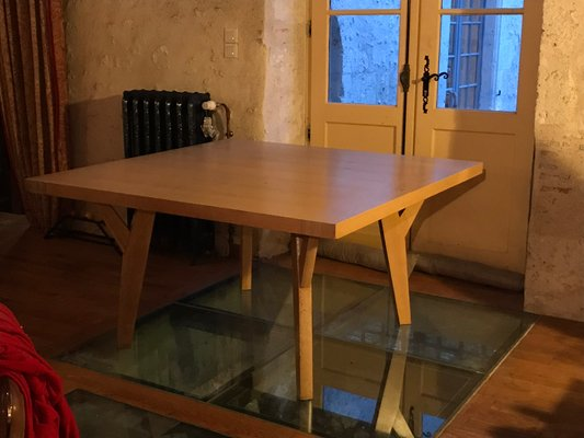 French Oak Dining Table By Liaigre 1980s