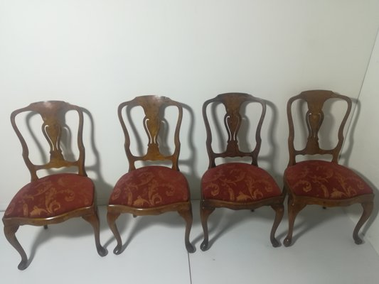 Outstanding Antique Style Wooden Dining Chairs 1950S Set Of 4 Alphanode Cool Chair Designs And Ideas Alphanodeonline