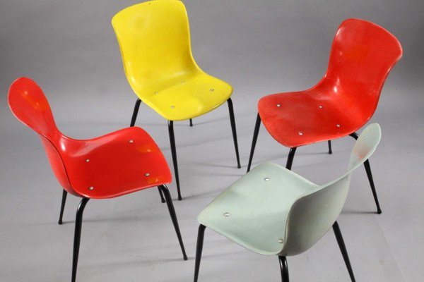 Multi Colored Fibergl Chairs From