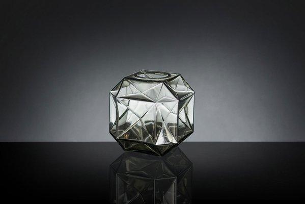 Petit Vase Burano en Verre de Murano Transparent et Gris par Marco Segantin  pour VGnewtrend, Italie
