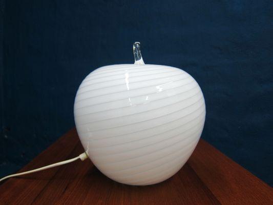 Vintage Tischlampe Aus Glas In Apfel Optik Bei Pamono Kaufen