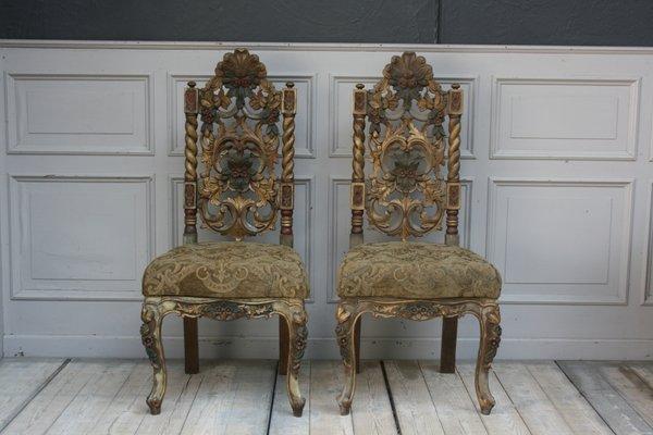Vintage Geschnitzte Stühle2er Stühle2er Geschnitzte Set Vintage XZPuOik