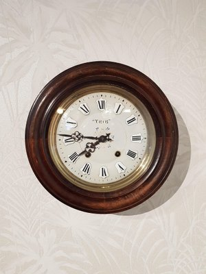 Antique French School Clock From