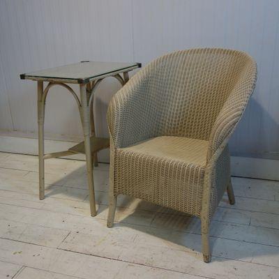 Beistelltisch & Stuhl von Marshall Burns Lloyd für Lloyd Loom, 1950er