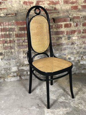 Charmant Antique Model 207R Black Curved Wood And Cane Chairs By Michael Thonet, Set  Of 6
