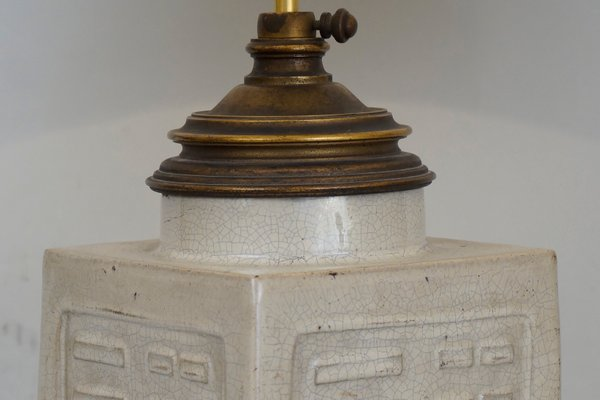 Antique Chinese Ceramic Table Lamp For
