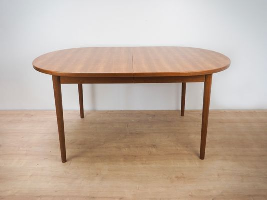 Mid Century Extendable Oval Dining Table By Nils Jonsson For Hugo Troeds 1960s 1