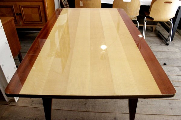 Mid Century Two Tone Dining Table 1950s
