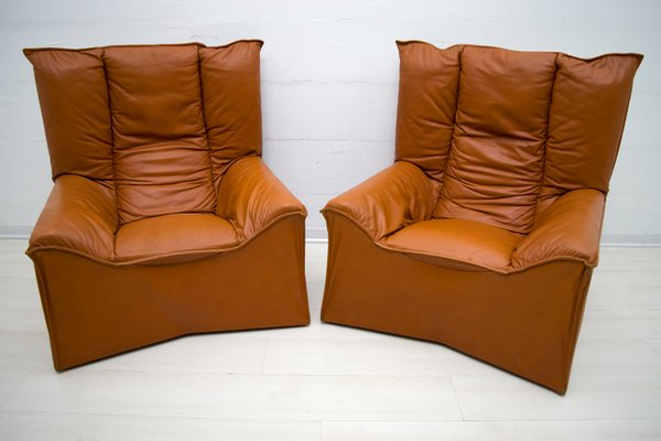 Astonishing Mid Century Modern Leather Chairs By Cinova 1964 Set Of 2 Pdpeps Interior Chair Design Pdpepsorg