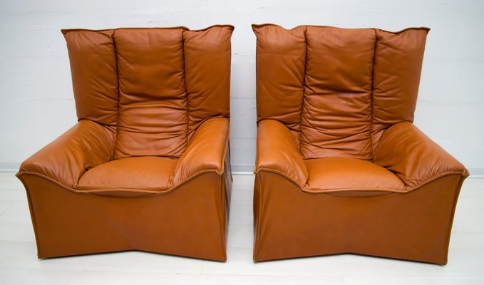 Fantastic Mid Century Modern Leather Chairs By Cinova 1964 Set Of 2 Pabps2019 Chair Design Images Pabps2019Com