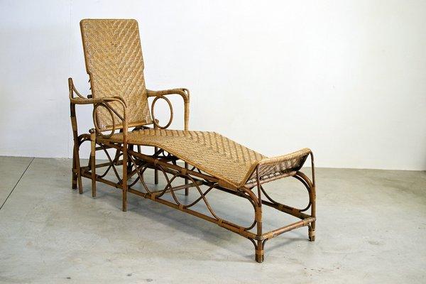 Longue Vintage EAlloggiItalie Chaise Jardin En Osier De Tcl31JuFK