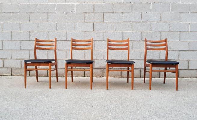 Sedie Stile Scandinavo.Sedie In Stile Scandinavo Francia Anni 60 Set Di 4