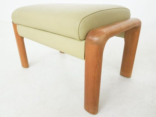 Admirable Danish Leather Teak Lounge Chair Ottoman By Sven Ellekaer For Komfort 1960S Pabps2019 Chair Design Images Pabps2019Com