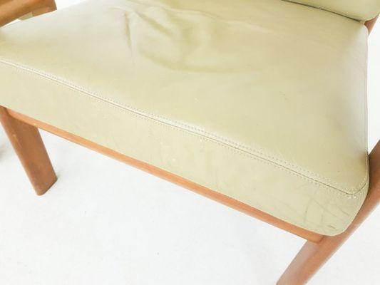Marvelous Danish Leather Teak Lounge Chair Ottoman By Sven Ellekaer For Komfort 1960S Pabps2019 Chair Design Images Pabps2019Com