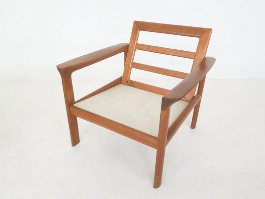 Awe Inspiring Danish Leather Teak Lounge Chair Ottoman By Sven Ellekaer For Komfort 1960S Pabps2019 Chair Design Images Pabps2019Com