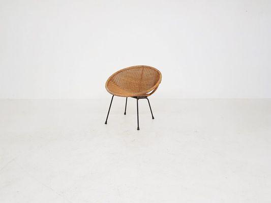 Strange Vintage Dutch Metal Rattan Armchair 1960S Pabps2019 Chair Design Images Pabps2019Com