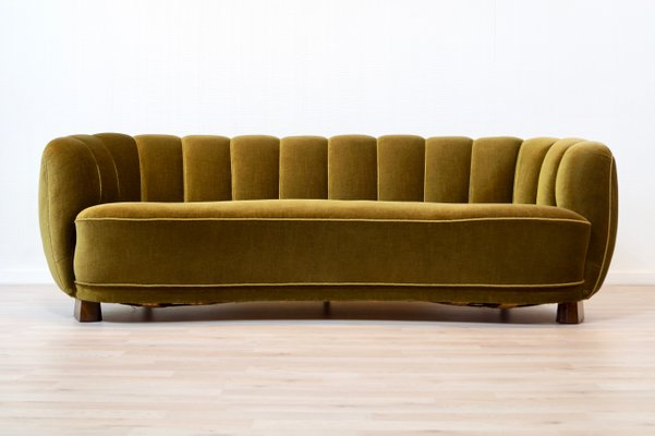 Stupendous Vintage Danish Curved Sofa Ibusinesslaw Wood Chair Design Ideas Ibusinesslaworg