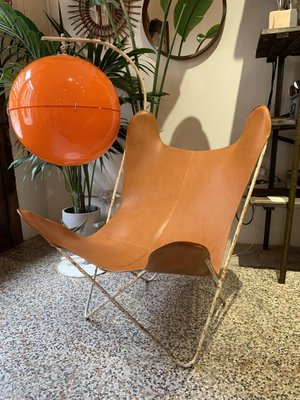 Leather Butterfly Armchair From Knoll, 1950s 1