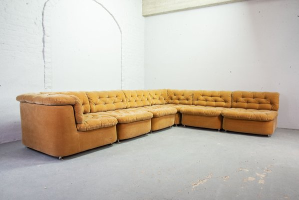 Awe Inspiring Modular Peach Velvet Sofa Set From Dreipunkt 1970S Short Links Chair Design For Home Short Linksinfo