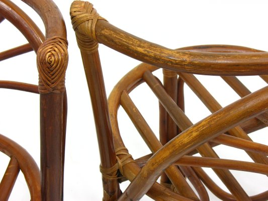 Admirable Vintage Rattan Chairs 1970S Set Of 2 Beatyapartments Chair Design Images Beatyapartmentscom